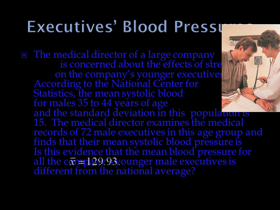 Executives' Blood Pressures