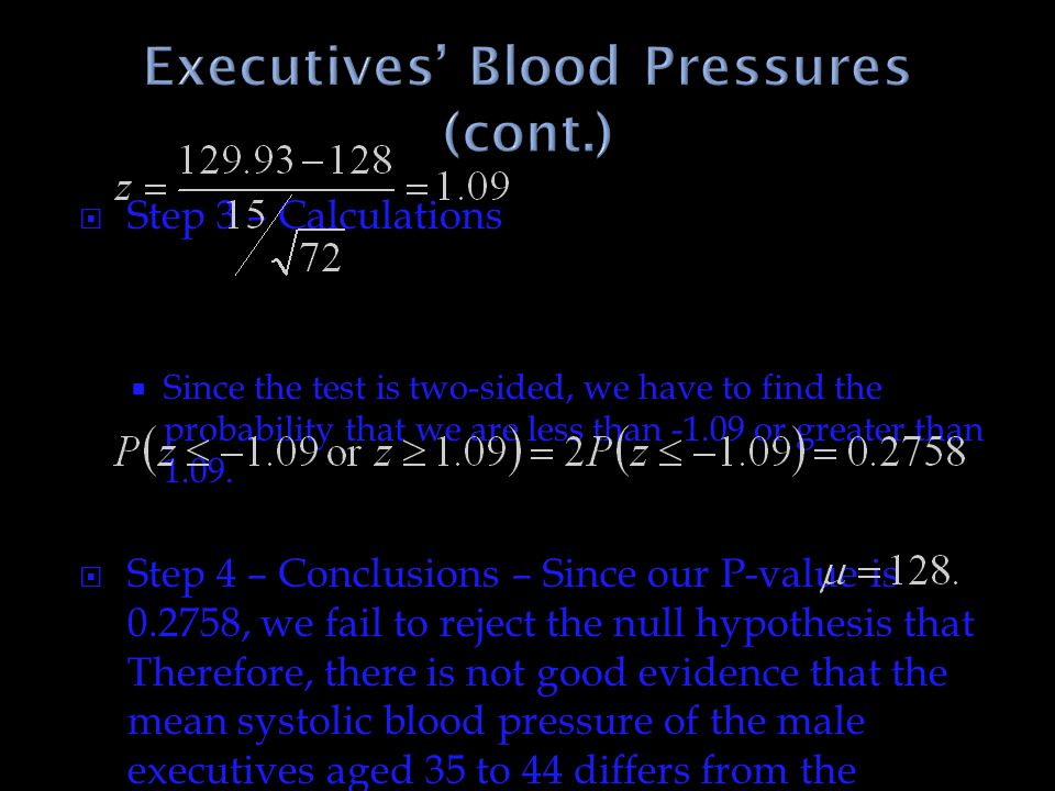 Executives' Blood Pressures (cont.)