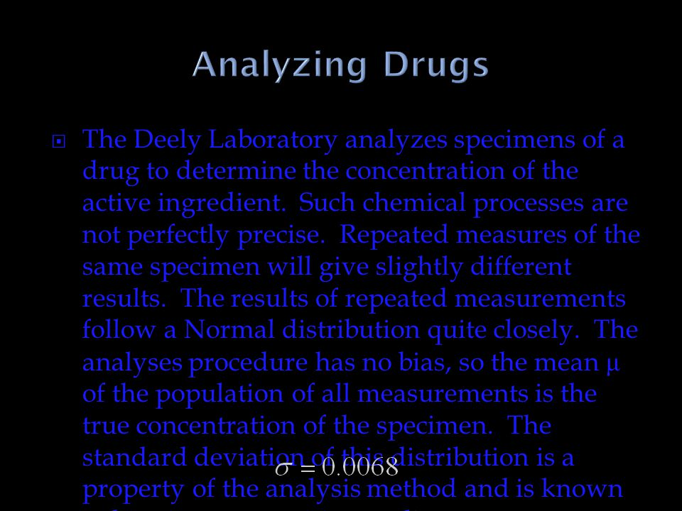 Analyzing Drugs
