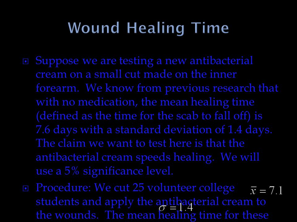 Wound Healing Time