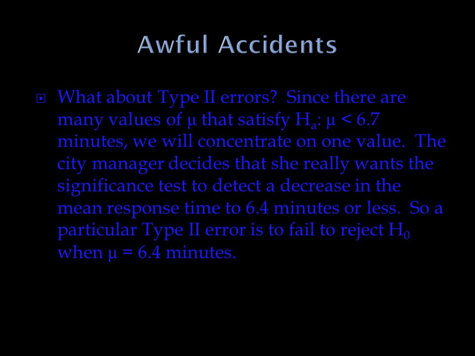 Awful Accidents