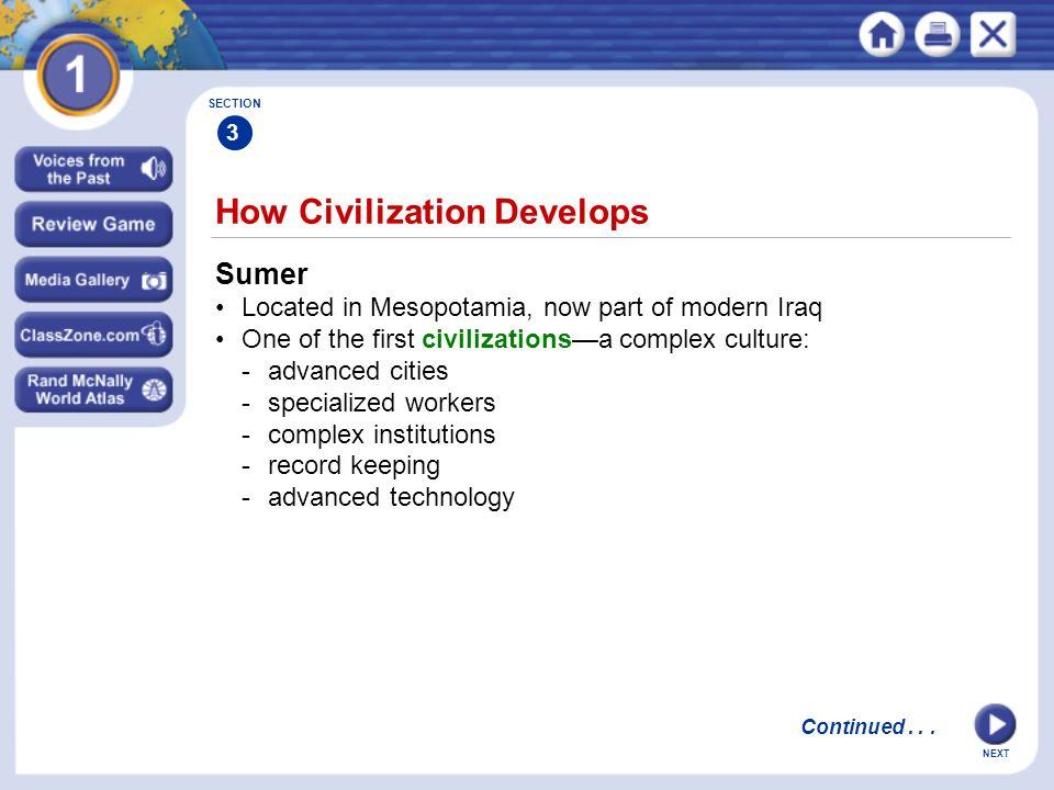 How Civilization Develops