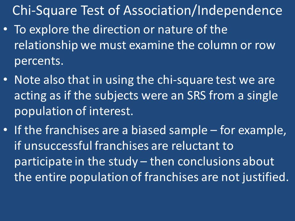 Chi-Square Test of Association/Independence