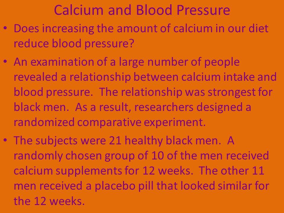 Calcium and Blood Pressure