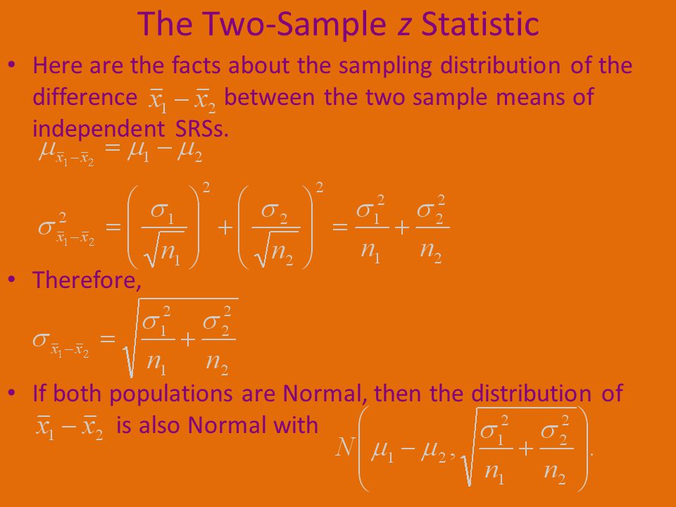 The Two-Sample z Statistic