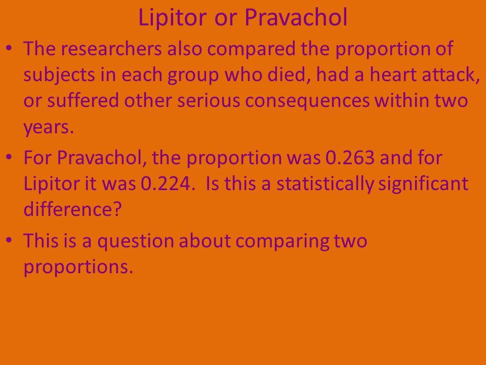 Lipitor or Pravachol