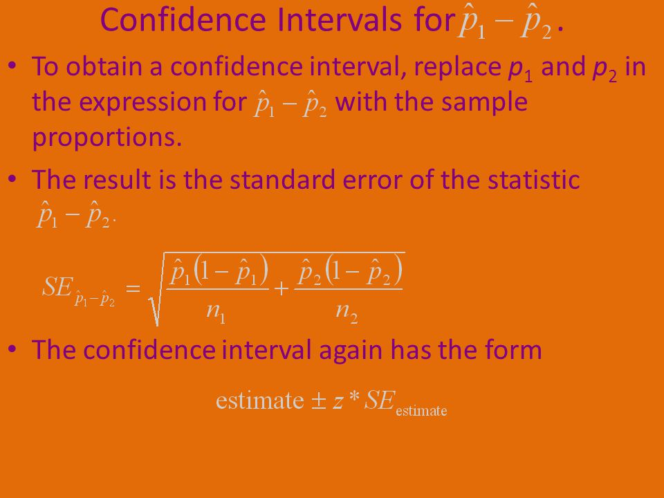 Confidence Intervals for .