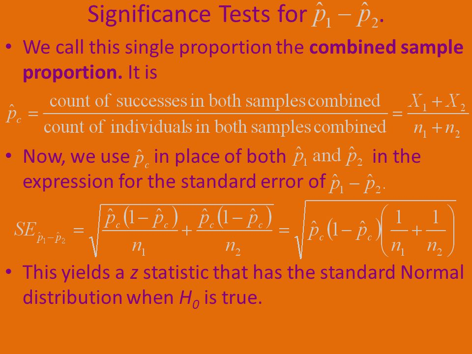 Significance Tests for .