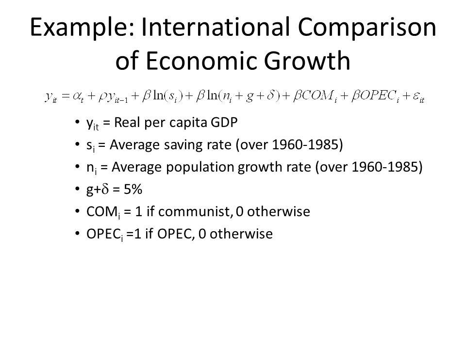 Example: International Comparison of Economic Growth