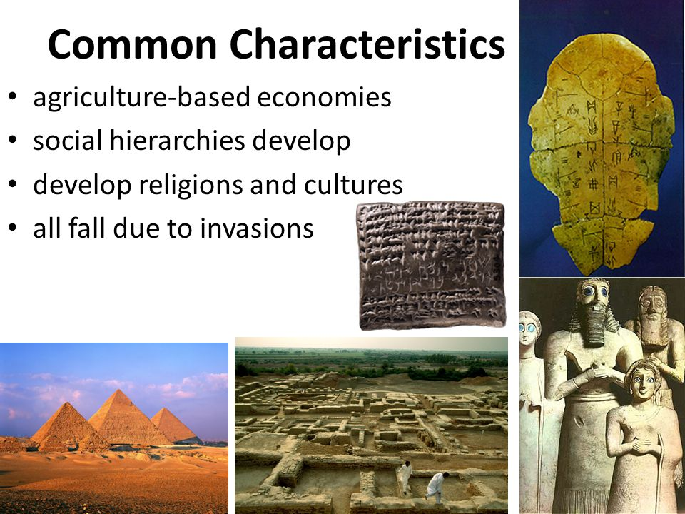 the development of major civilizations formed in river valleys egypt china india and mesopotamia Although much more limited than our sources for egypt or mesopotamia, archeological evidence tells us a number of things about early indus river valley civilization .