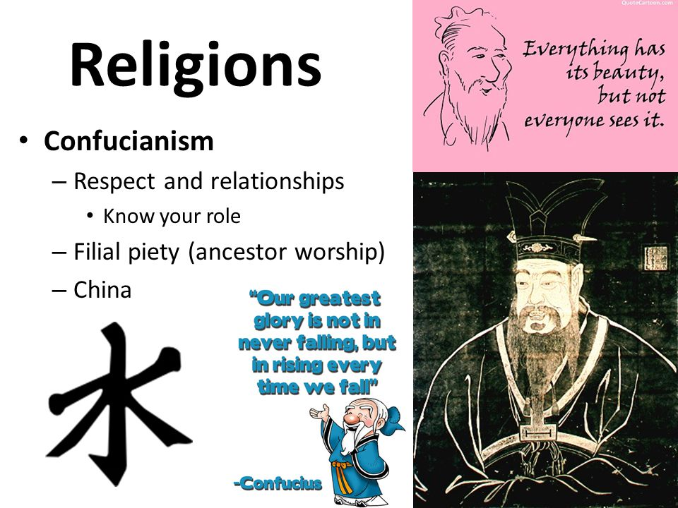 Religions Confucianism Respect and relationships