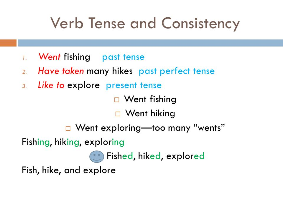 Verb Tense and Consistency