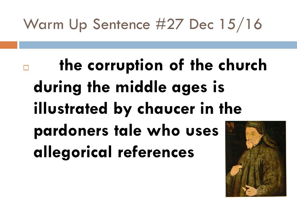 Warm Up Sentence #27 Dec 15/16