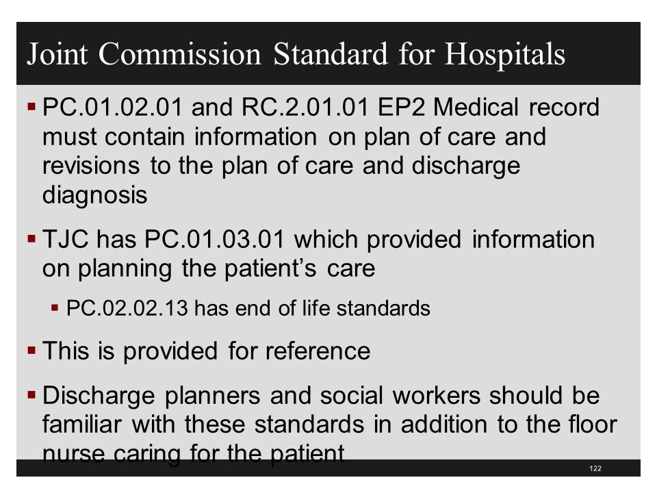 Joint Commission Standard for Hospitals