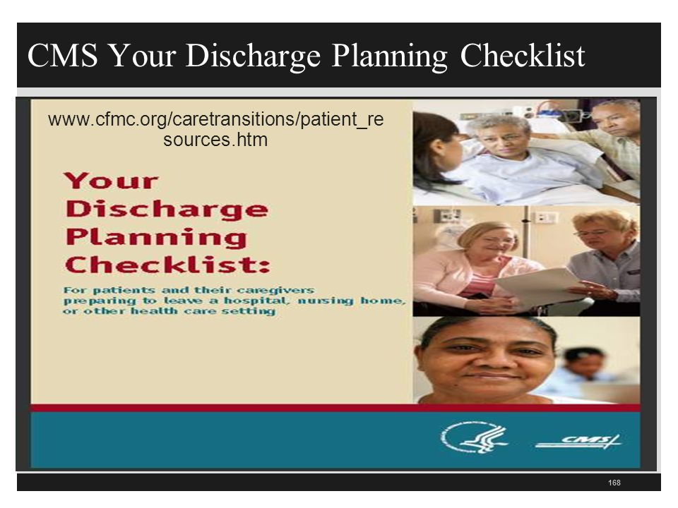 CMS Your Discharge Planning Checklist