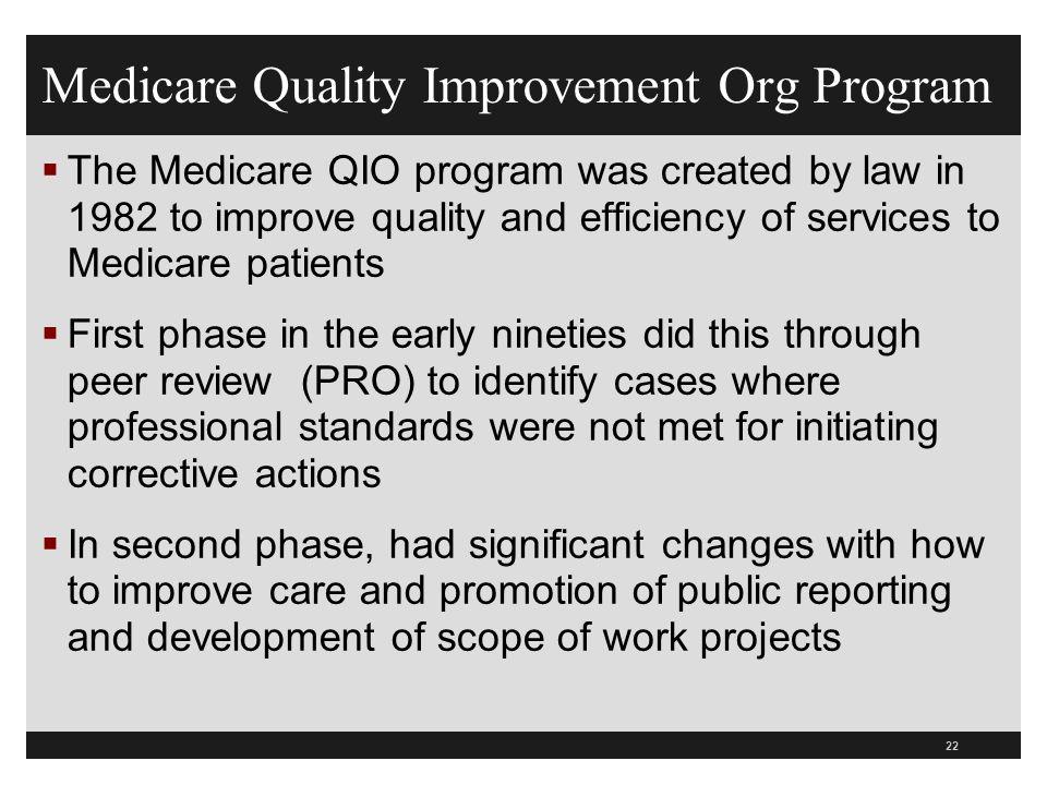 Medicare Quality Improvement Org Program