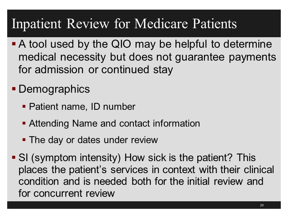 Inpatient Review for Medicare Patients