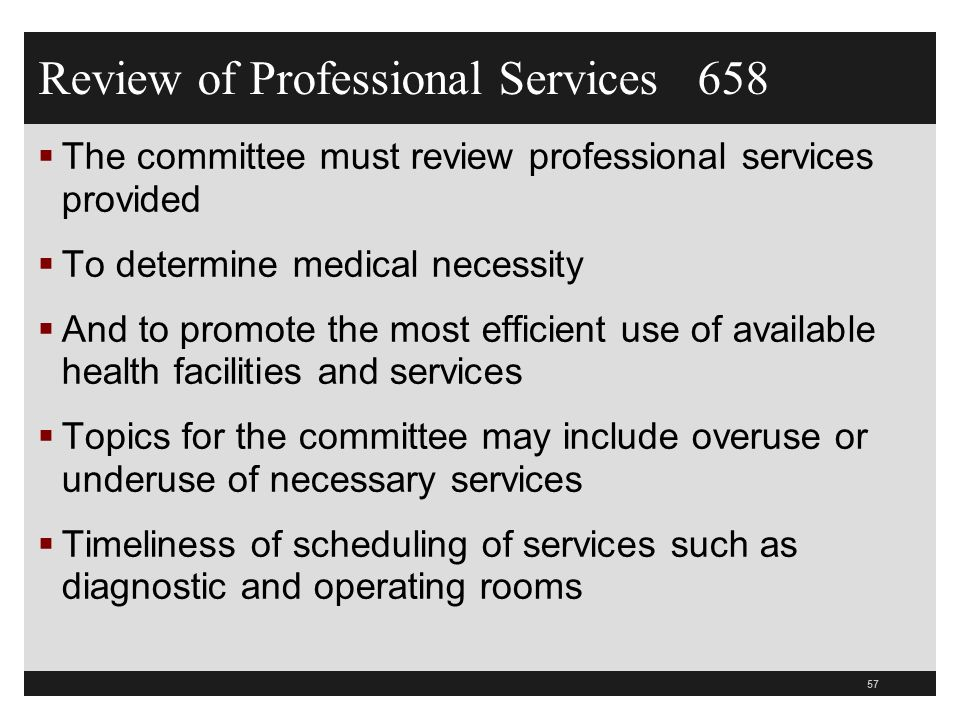 Review of Professional Services 658