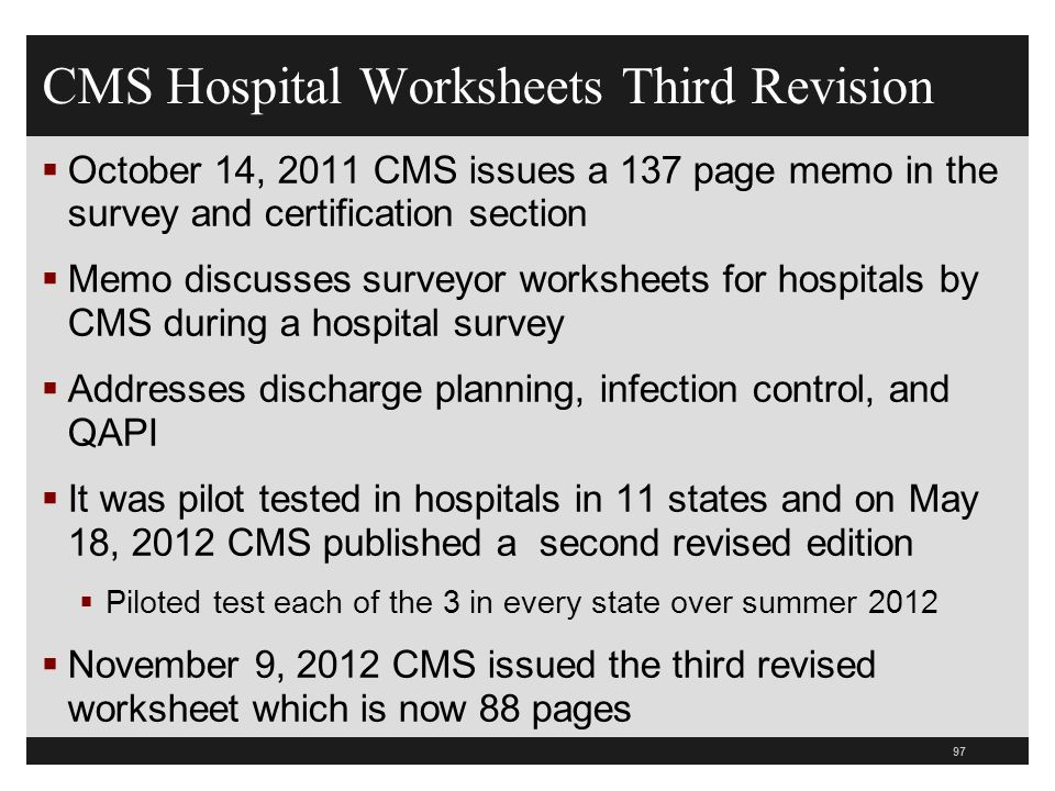 CMS Hospital Worksheets Third Revision