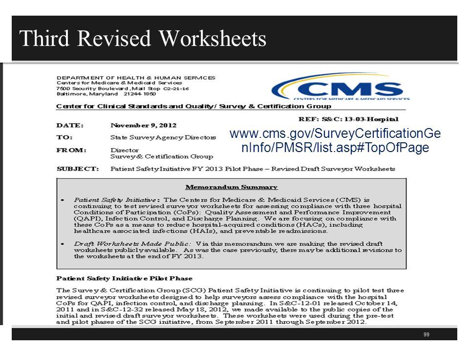 Third Revised Worksheets