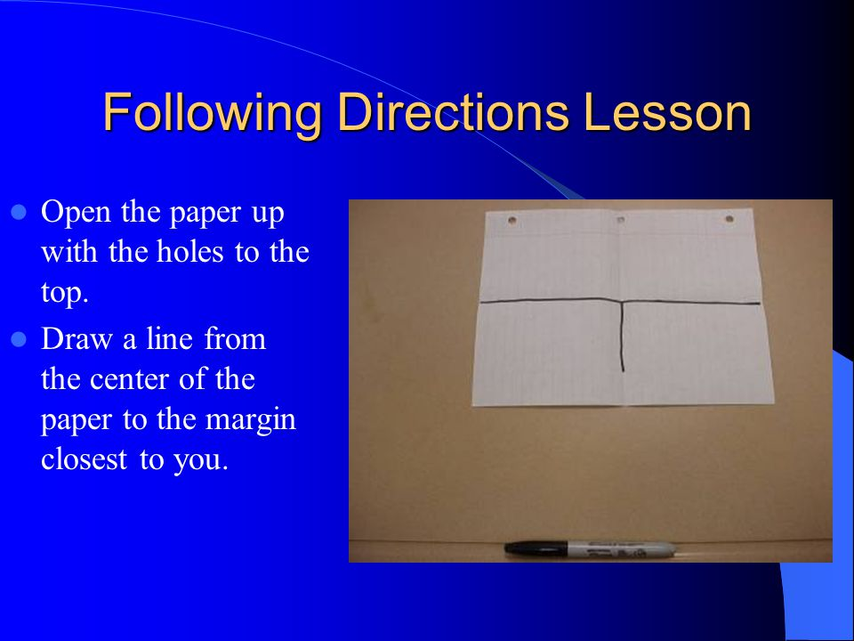 following directions lesson ppt video online download. Black Bedroom Furniture Sets. Home Design Ideas