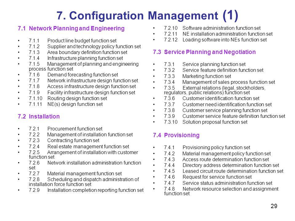7. Configuration Management (1)
