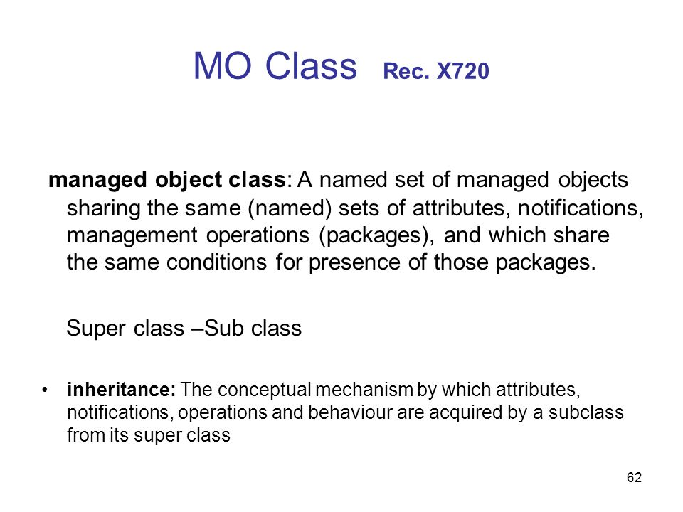 MO Class Rec. X720