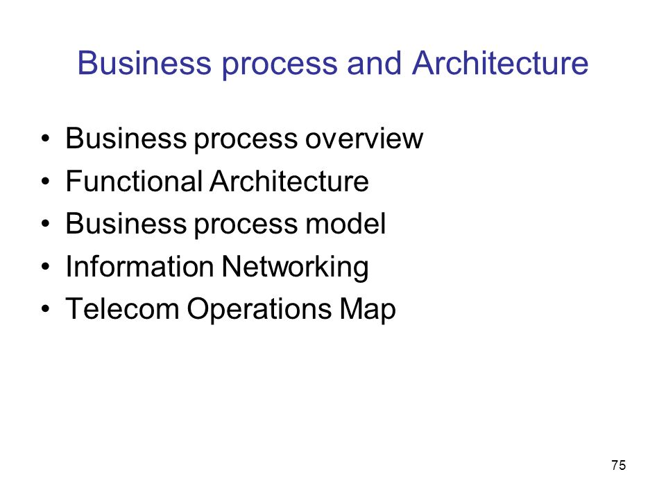 Business process and Architecture