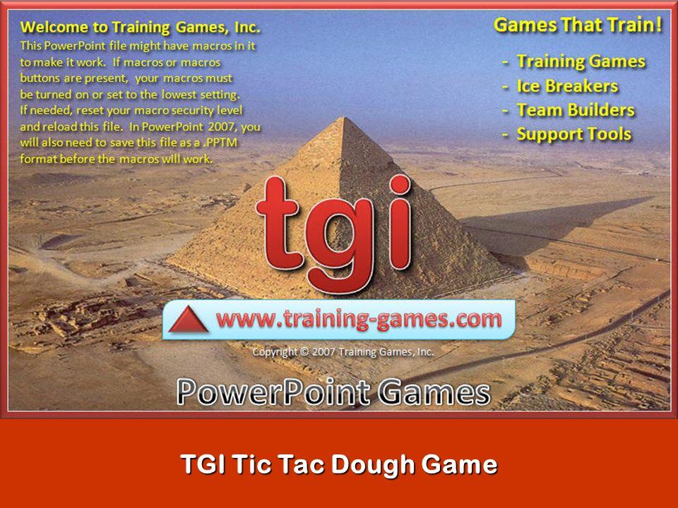 TGI Tic Tac Dough Game