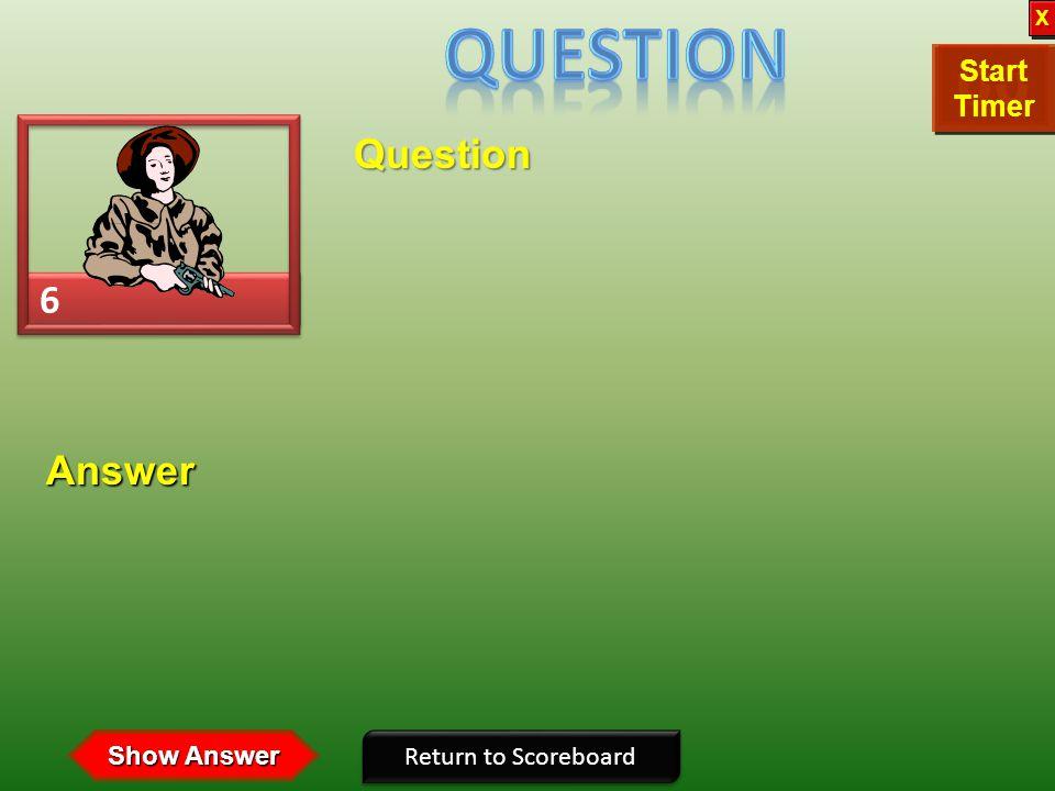 Question X. Start. Timer. 11. 10. 09. 12. 14. 15. 08. 13. 05. 02. 01. 00. 03. 04. 06.