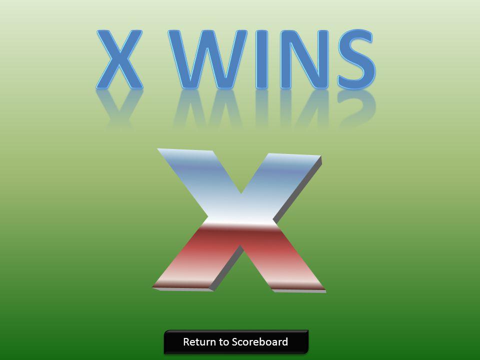 X wins X Return to Scoreboard