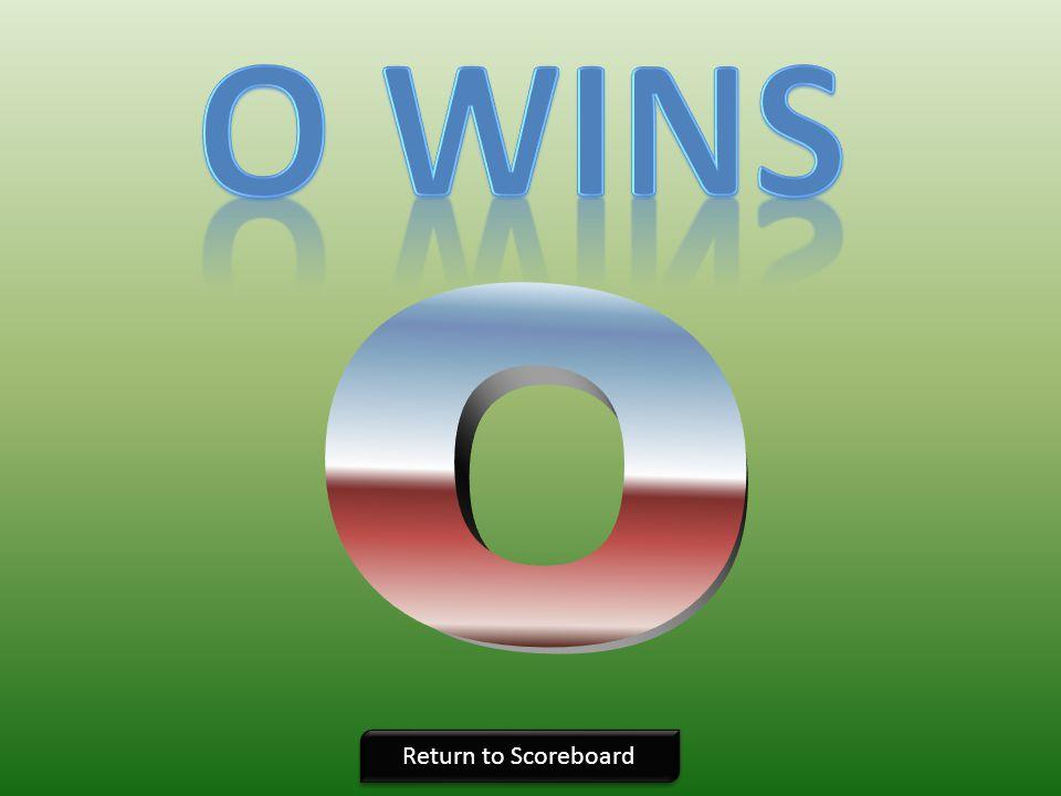 O wins O Return to Scoreboard