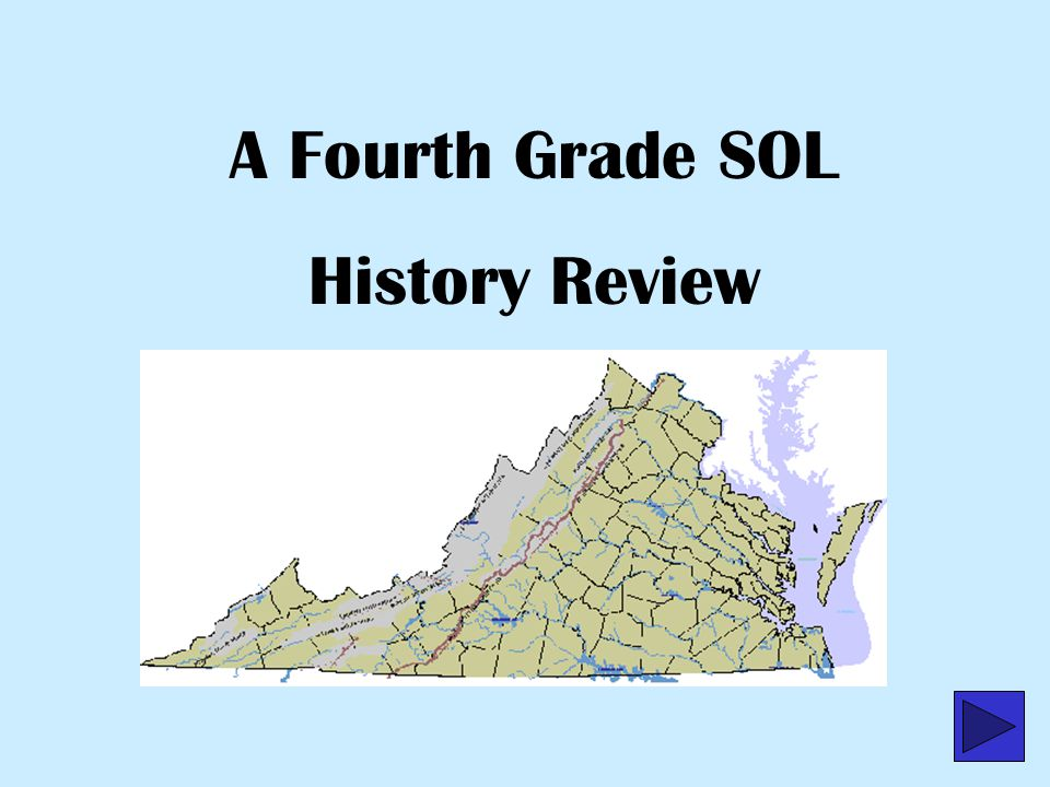 A Fourth Grade SOL History Review