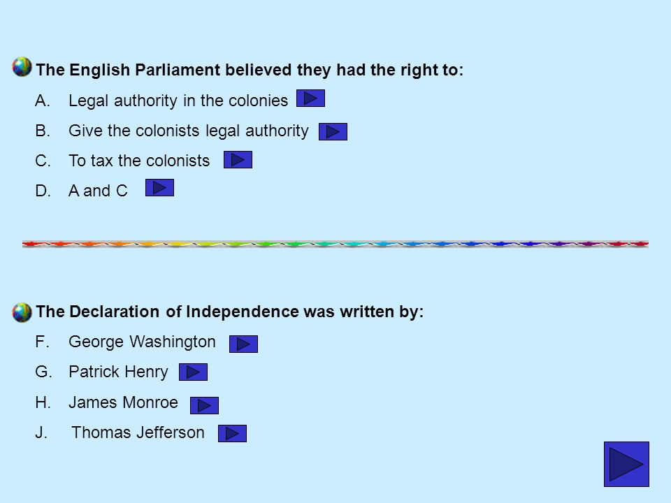 The English Parliament believed they had the right to: