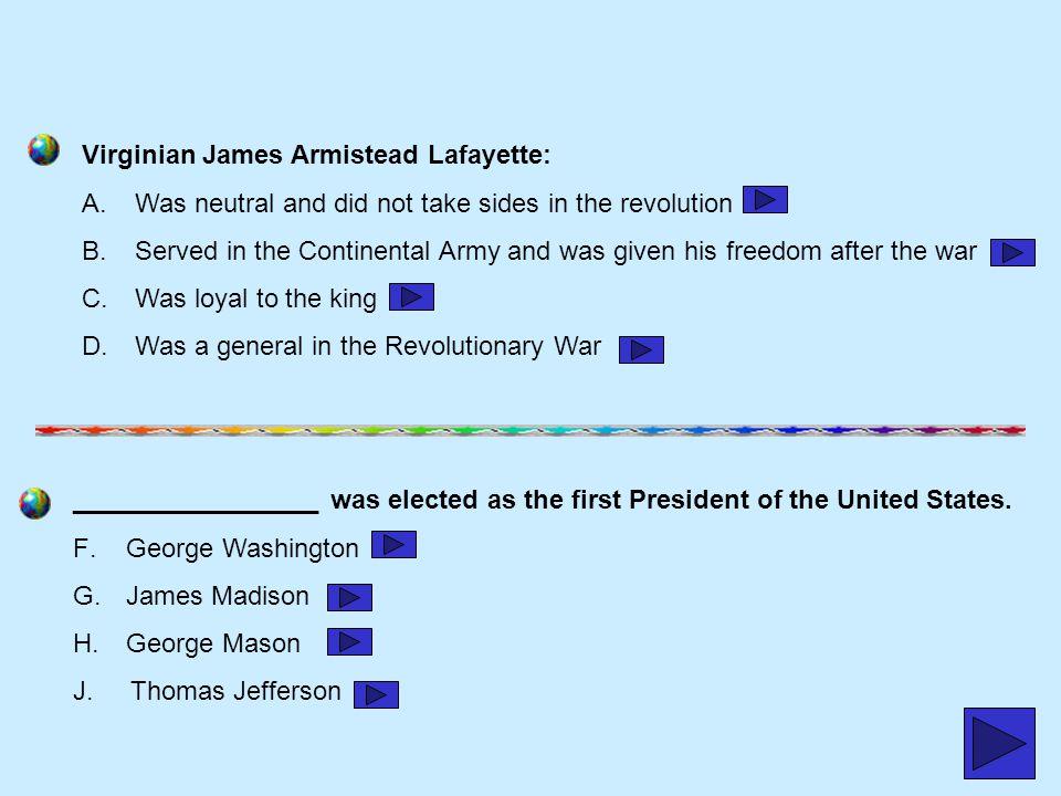 Virginian James Armistead Lafayette: