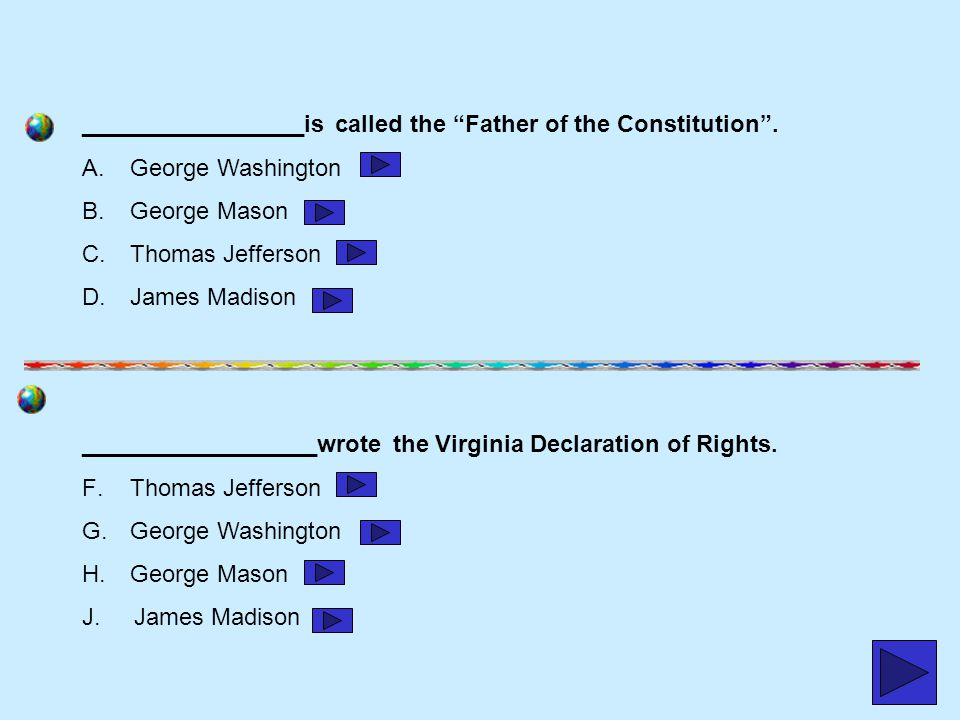 _________________is called the Father of the Constitution .
