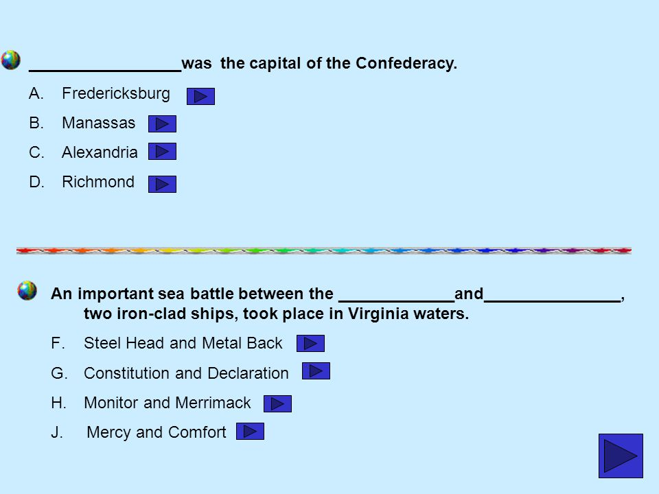 _________________was the capital of the Confederacy.