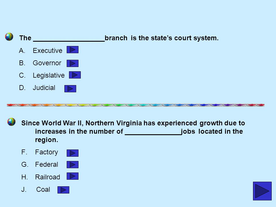 The ___________________branch is the state's court system.