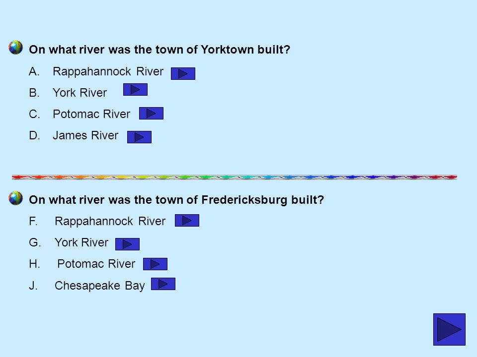 On what river was the town of Yorktown built