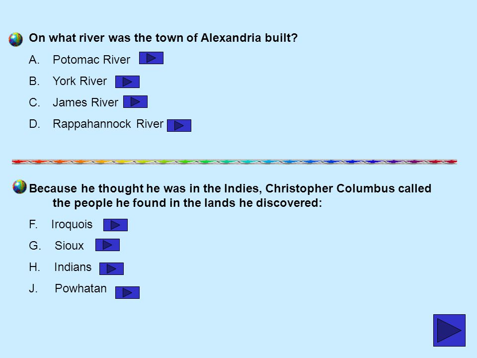 On what river was the town of Alexandria built