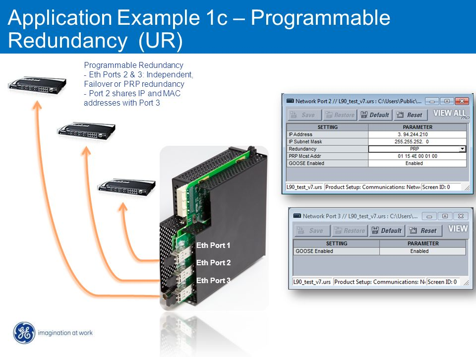 Application Example 1c – Programmable Redundancy (UR)