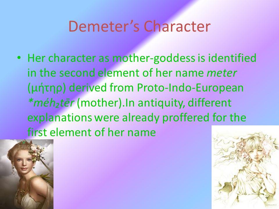 Demeter's Character
