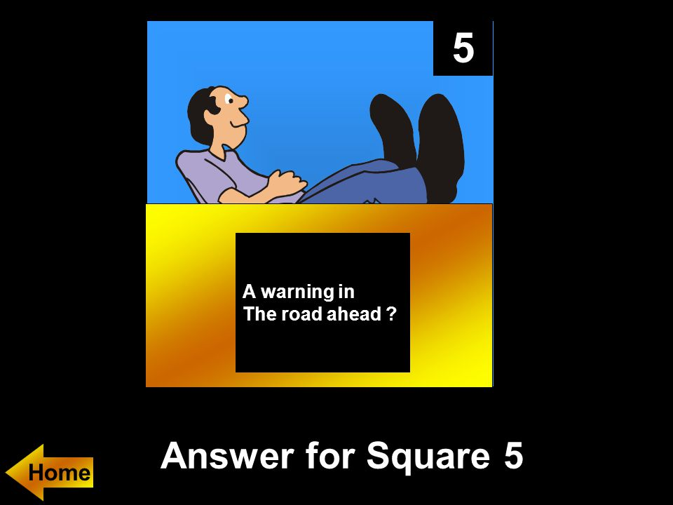 5 A warning in The road ahead Answer for Square 5 Home