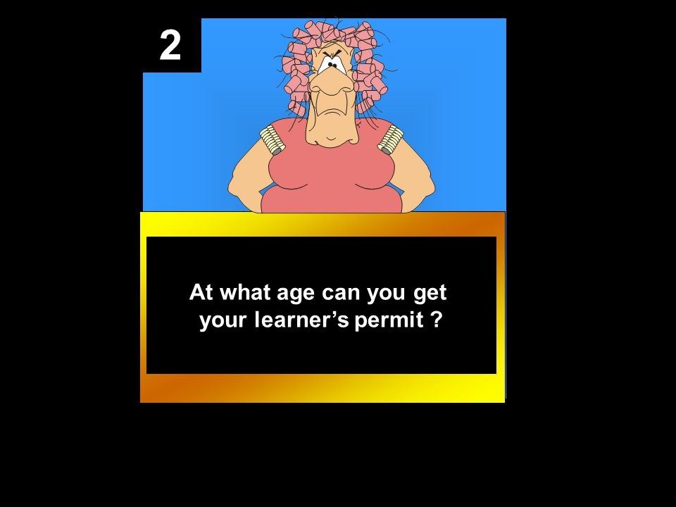 2 At what age can you get your learner's permit