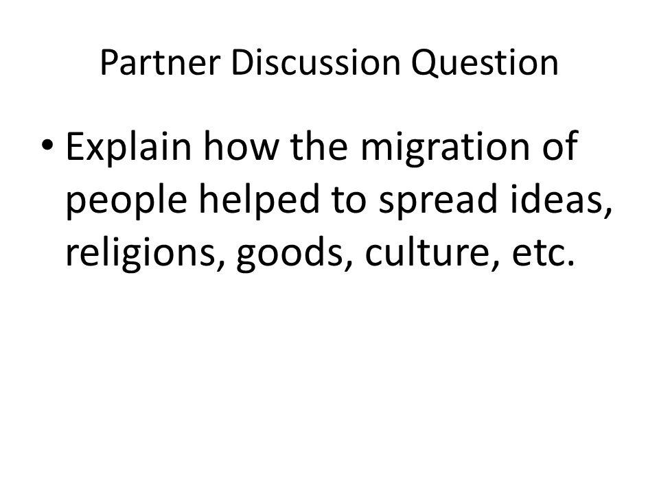 Partner Discussion Question