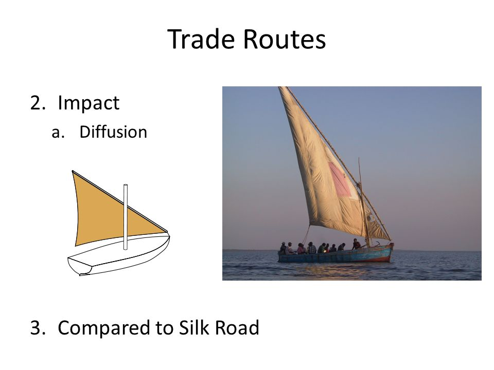 Trade Routes Impact Diffusion Compared to Silk Road