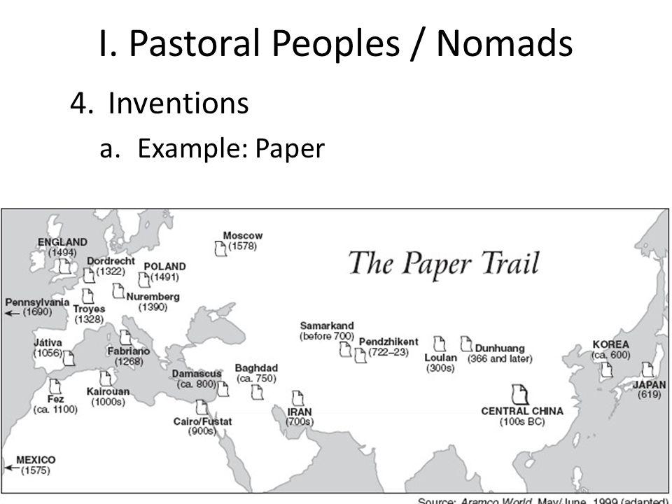 I. Pastoral Peoples / Nomads
