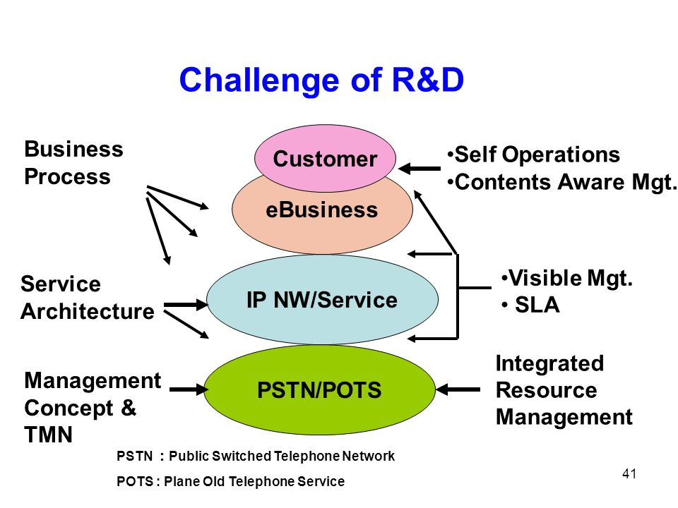 Challenge of R&D Customer Business Process Self Operations