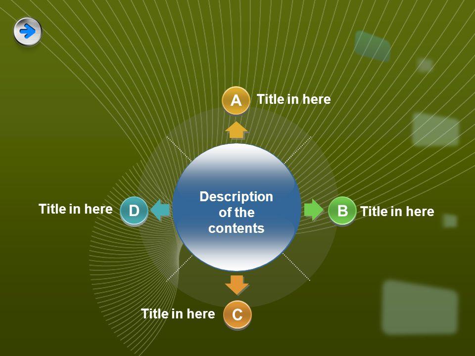 Description of the contents