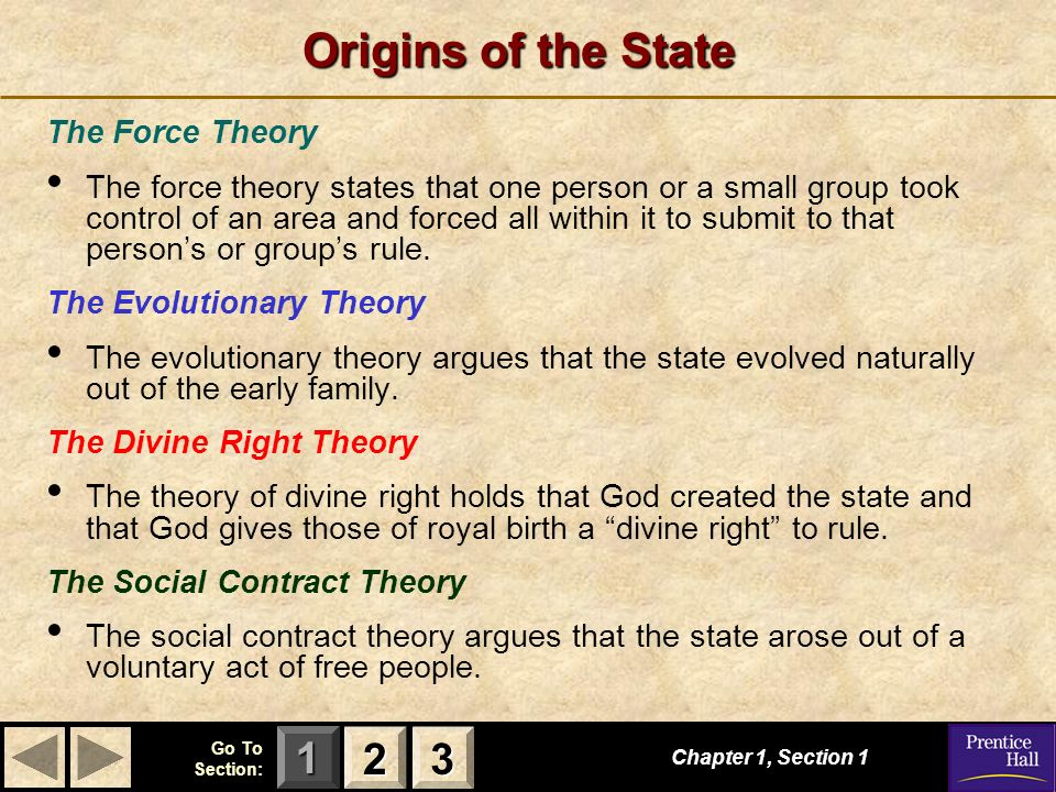 Origins of the State 2 3 The Force Theory